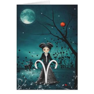 Cartão das meninas do zodíaco - Aries