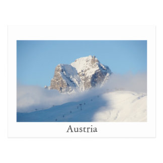Cartão das montanhas de Áustria