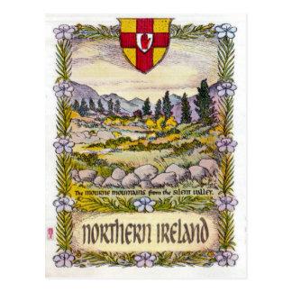 Cartão das montanhas de Irlanda do Norte Mourne