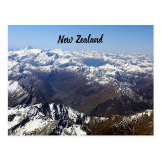 Cartão das montanhas de Nova Zelândia
