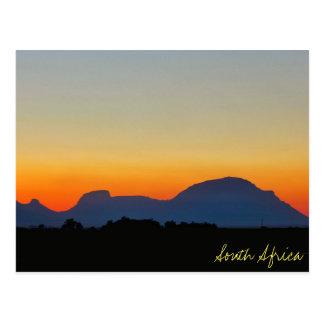 Cartão das montanhas do por do sol de África do Cartão Postal