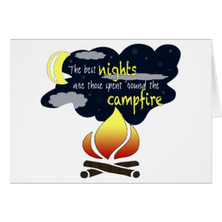 Cartão das noites da fogueira
