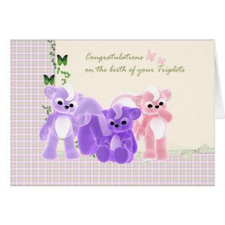 Cartão das objectivas triplas do bebê dos