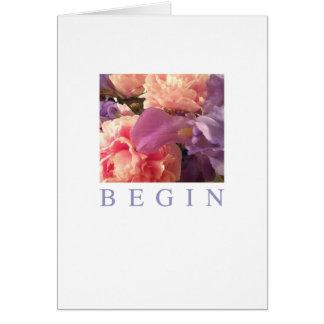 Cartão das ocasiões: Comece