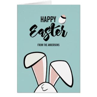 Cartão das orelhas do coelhinho da Páscoa