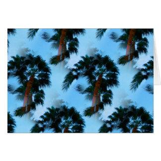 Cartão das palmeiras