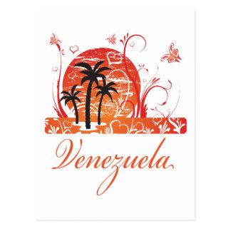 Cartão das palmeiras do verão de Venezuela