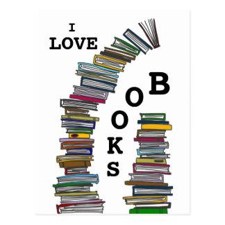 Cartão das pilhas de livro