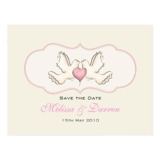 Cartão das pombas do amor