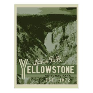 Cartão das quedas do parque nacional de