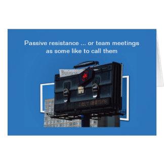 Cartão das reuniões da equipe