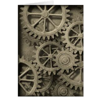 Cartão das rodas denteadas de Steampunk