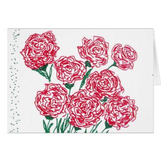 Cartão das rosas vermelhas