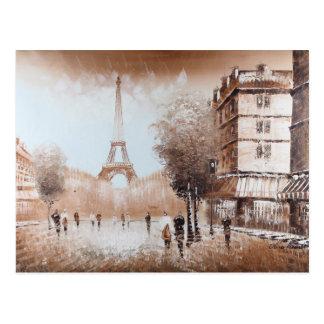 Cartão das ruas de Paris