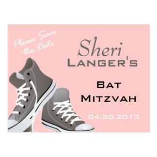 Cartão das sapatilhas de Mitzvah do bastão