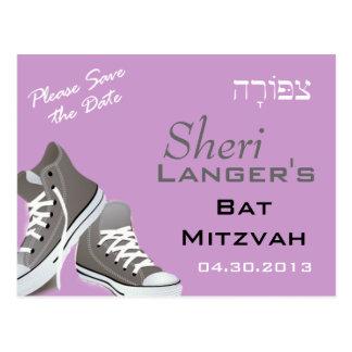 Cartão das sapatilhas de Tziporah