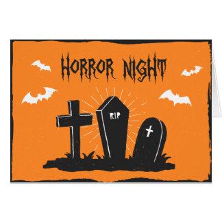 Cartão das sepulturas do Dia das Bruxas