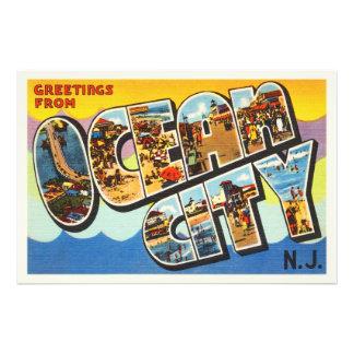 Cartão das viagens vintage de New-jersey NJ da Impressão De Foto