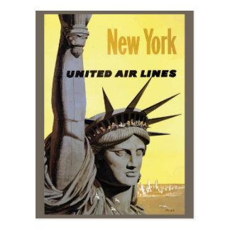 Cartão das viagens vintage de New York