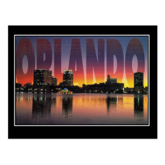 Cartão das viagens vintage de Orlando Florida