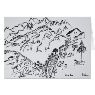 Cartão d'Asco áspero | Córsega de Val, France