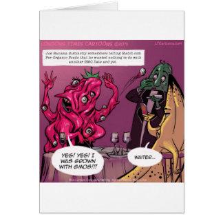Cartão Data orgânica e de GMO engraçada
