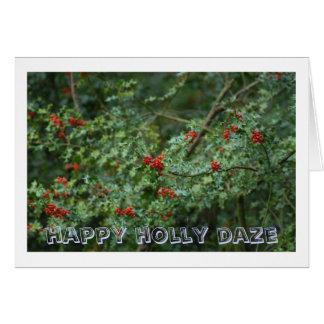 Cartão daze feliz do azevinho
