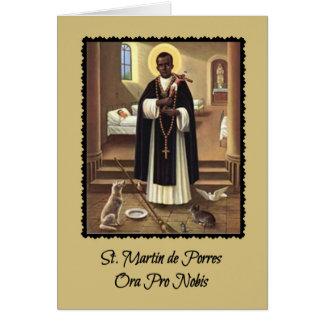 Cartão de 0029 St Martin de Porres com oração