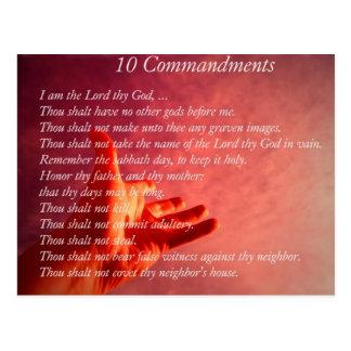 Cartão de 10 mandamentos