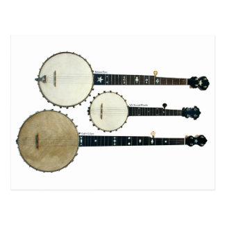 Cartão de 3 banjos