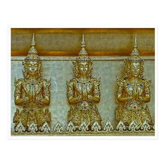 Cartão de 3 estátuas do ouro