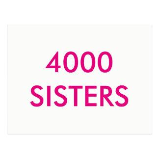 Cartão de 4000 irmãs