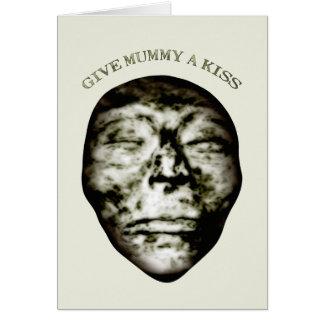 Cartão Dê a mamã um beijo