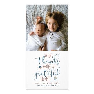 Cartão Dê a obrigados a acção de graças