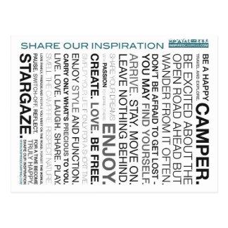 Cartão de acampamento inspirados da mantra