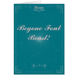 Cartão de adeus - animal sujo de Begone
