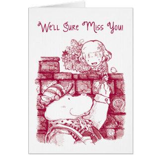 Cartão de adeus - bom dia