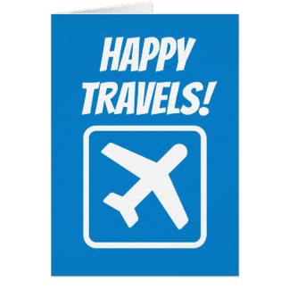 Cartão de adeus feliz dos viagens adeus