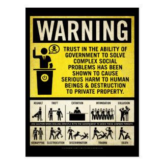 Cartão de advertência do governo