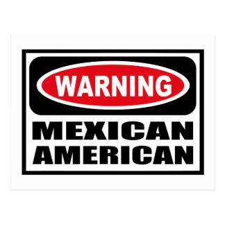 Cartão de advertência do MÉXICO-AMERICANO