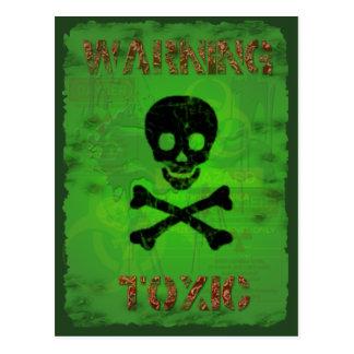 Cartão de advertência tóxico da receita