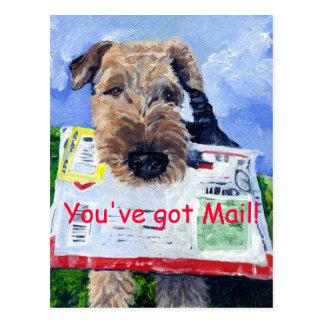Cartão de Airedale Terrier!