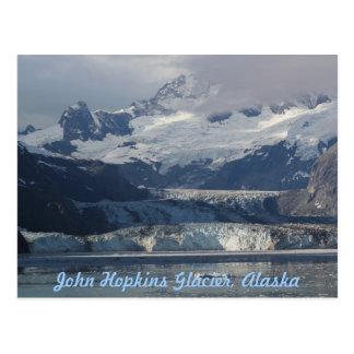 Cartão de Alaska da geleira de John Hopkins