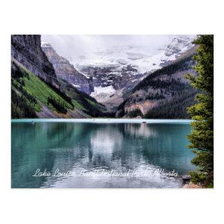 Cartão de Alberta do parque nacional de Lake