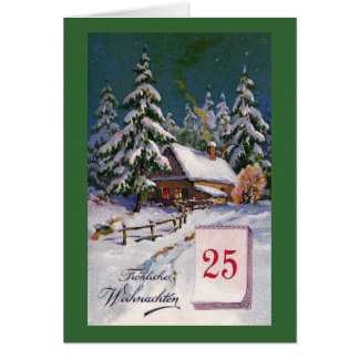 """Cartão De """"alemão do vintage Frohliche Weihnachten"""""""