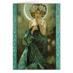 Cartão de Alphonse Mucha Clair De Lune