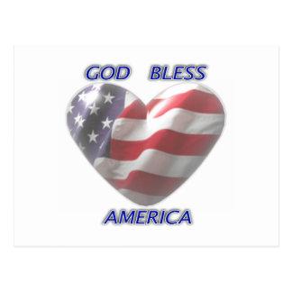 Cartão de América dos deus abençoe