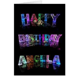 Cartão de Angela do feliz aniversario
