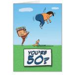Cartão de aniversário: 50 são um retrocesso dentro