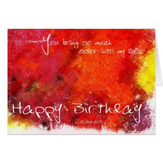 Cartão de aniversário abstrato da pintura